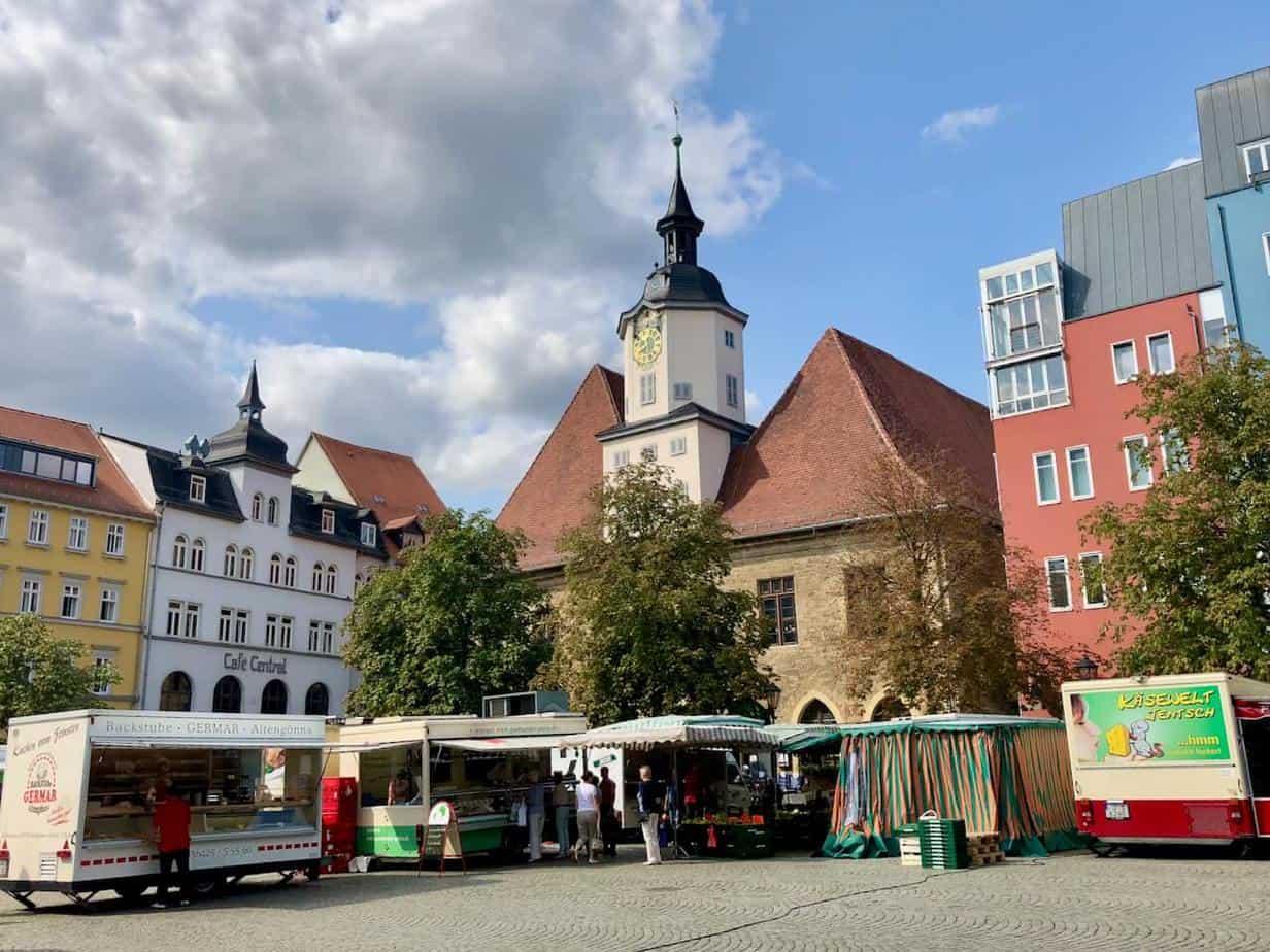 Der Marktplatz von Jena