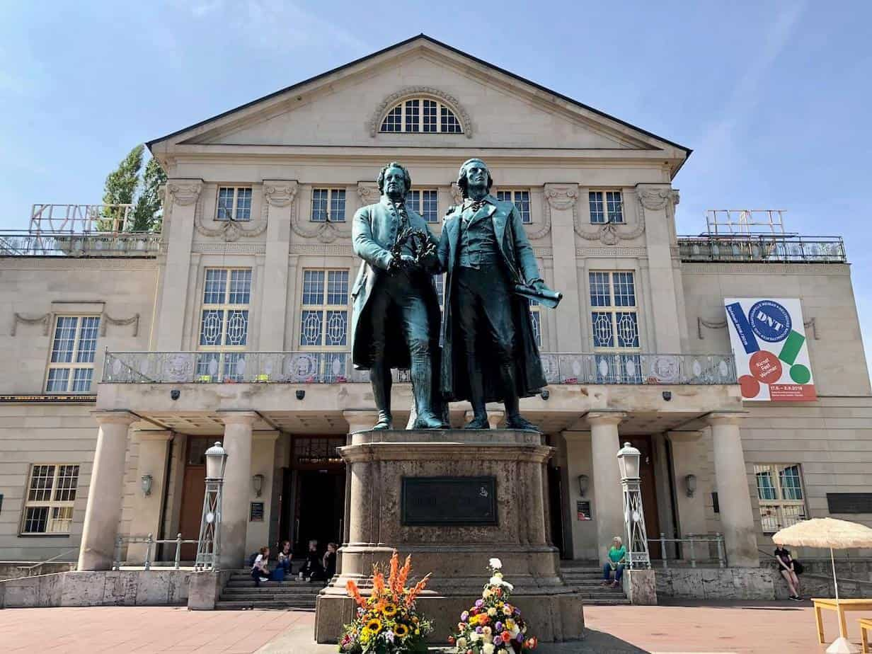 Weimar Schiller und Goethe Denkmal