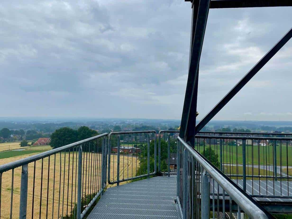 Auf der Aussichtsplattform in Groß Reken (Münsterland)